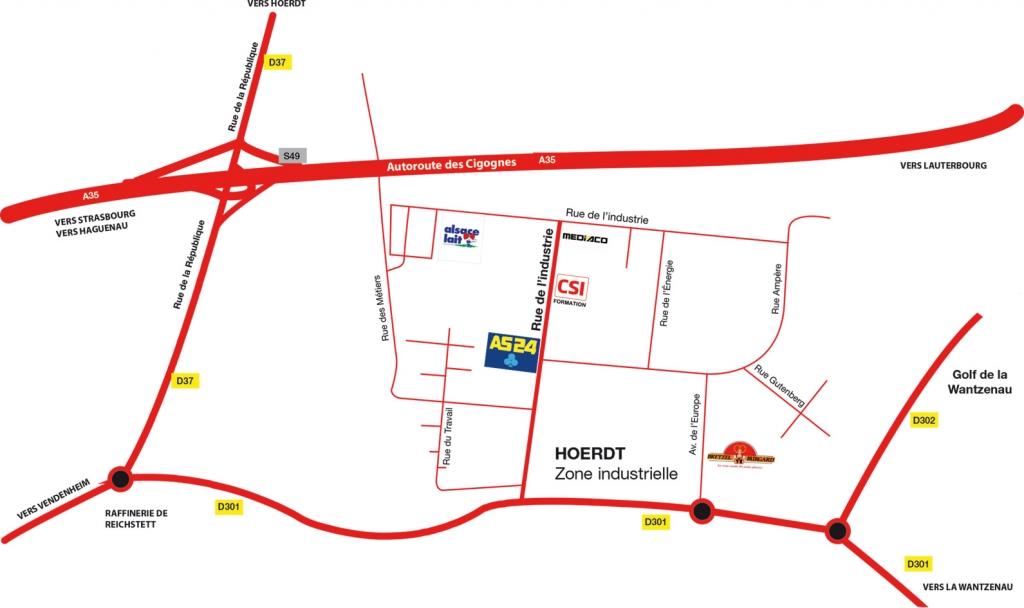 Plan d'accès Formation Strasbourg-Hoerdt / Bas-Rhin 67